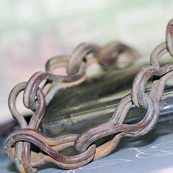 27 inch... vintage old brass chain with hook... Dec by CoolVintage, $27.50