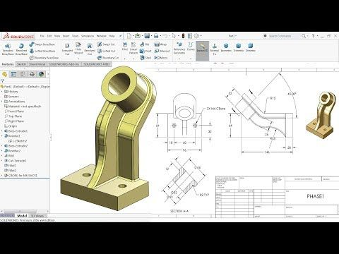 Solidworks Tutorial For Beginners Exercise 9 Dibujos