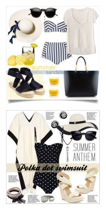 """Pretty Swimwear"" by barbara-roscoe ❤ liked on Polyvore featuring BarLuxe, Yves Saint Laurent, Prism, Topshop, Fresh Laundry, summersandals, Lisa Marie Fernandez, Cartier, Dolce&Gabbana and Stuart Weitzman"