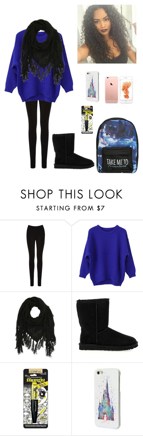 """""""Untitled #171"""" by princessoferebor ❤ liked on Polyvore featuring Oasis, Charlotte Russe, UGG Australia, L'Oréal Paris and Disney"""