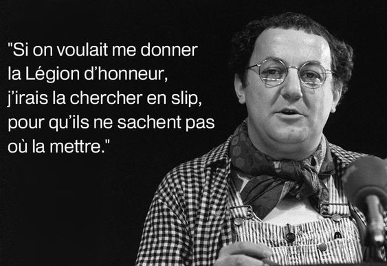 Coluche, French Humorist (1944-1986)