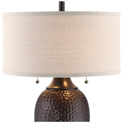 Cody Hammered Oiled Bronze Table Lamp Set Of 2 37e15 Lamps
