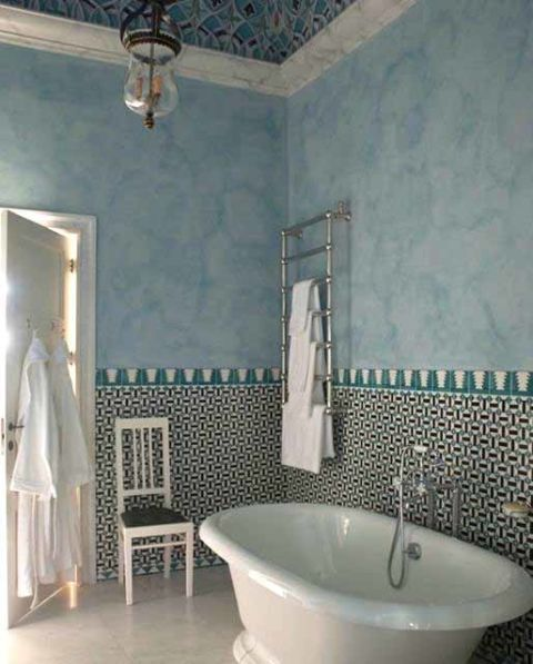 Design ideas to steal from luxury hotels - see tile as art