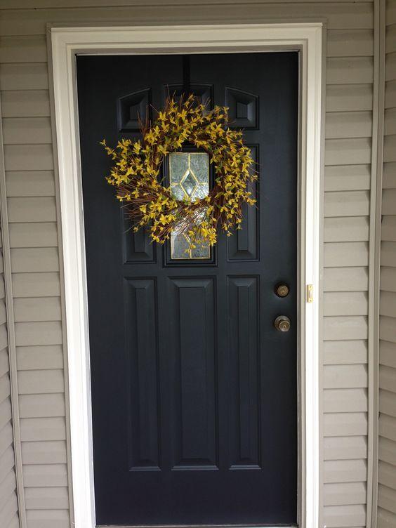 Front Door Painted Black Valspar Duramax Dark Kettle