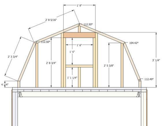 Micro Gambrel Gambrel Wall Small Barn Plans Gambrel Roof Storage Building Homes