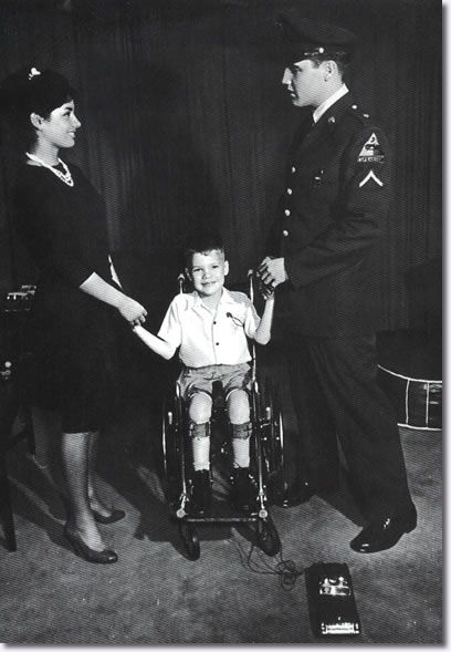 Vera Tschechowa and Elvis Presley - March of Dimes Photo January 1959