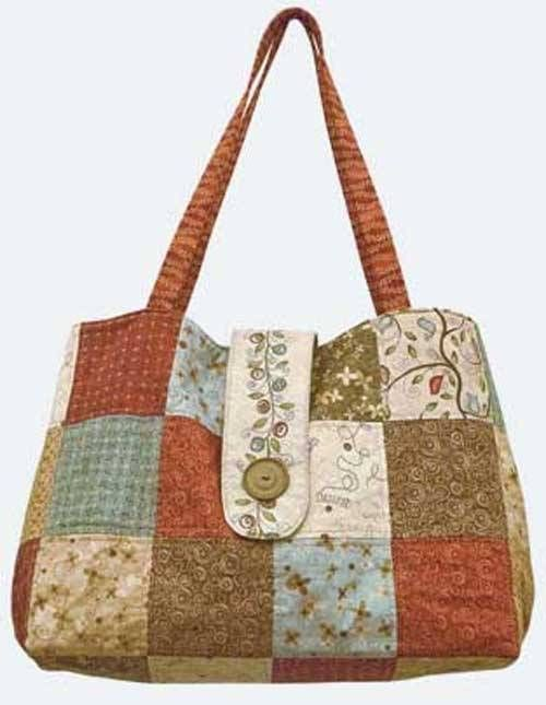 This roomy bag is fat quarter friendly and looks great made up in patchwork. Sew it up using your favorite fat quarters or coordinating fabrics. To finish,