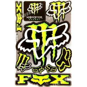 Cars racing and products on pinterest - Fox and monster logo ...
