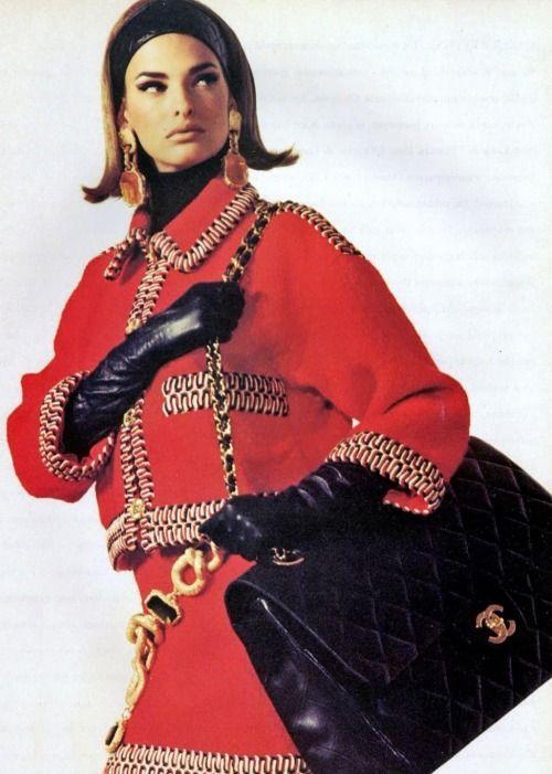 Linda Evangelista - Vogue Italy - July/August 1990 via: