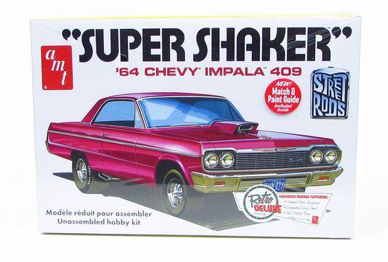 "1964 Chevy Impala 409 ""Super Shaker"" AMT 917 1/25 Model Car Kit"