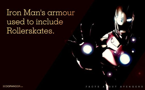 Iron Man's armour includes Rollerskates.