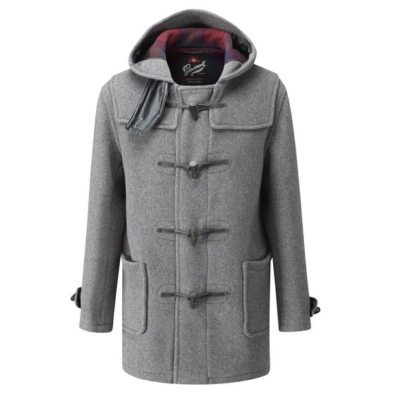 Gloverall Mid Length Duffle Coat Grey | Apparel | Pinterest
