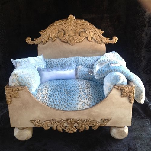 Luxury designer shabby chic pet bed luxury pet beds for Shabby chic dog