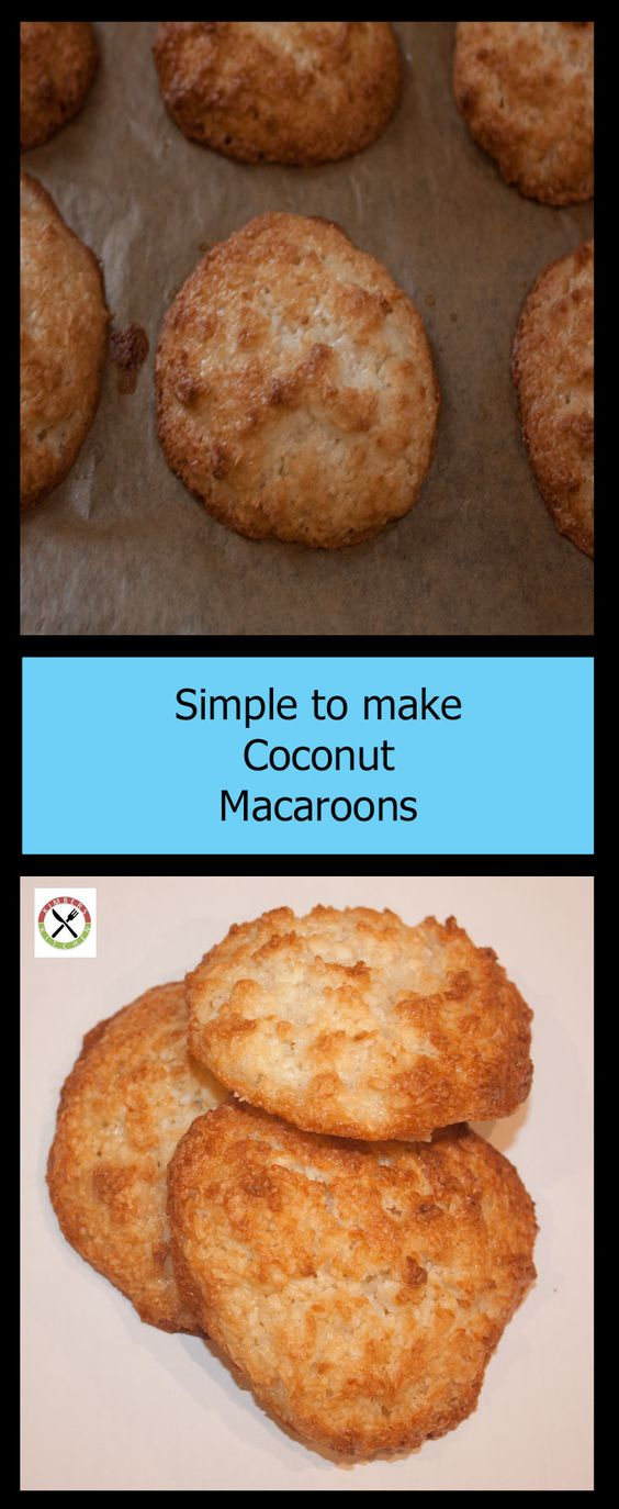 These Easy to make Coconut Macaroons need just a few ingredients and are a great way to use egg whites left over from other recipes