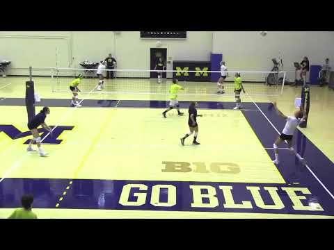 Michigan Volleyball Warmup And Blocking Youtube Volleyball Drills Coaching Volleyball Volleyball Skills
