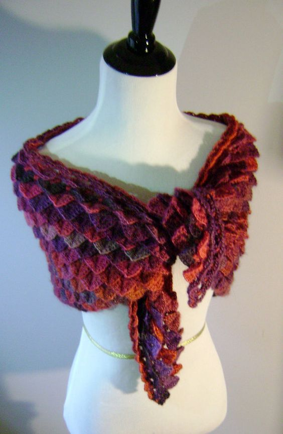Fire Dragon Shawl by PeaceLoveGeeky Knit and Crochet ...