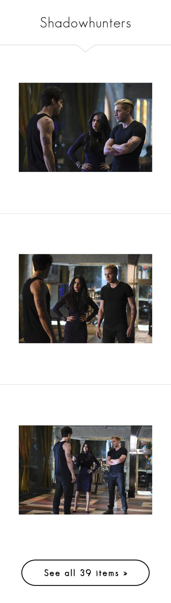 """""""Shadowhunters"""" by lucyhalliday ❤ liked on Polyvore"""