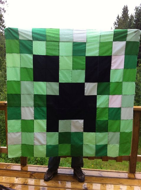 Minecraft Creeper Quilt Top