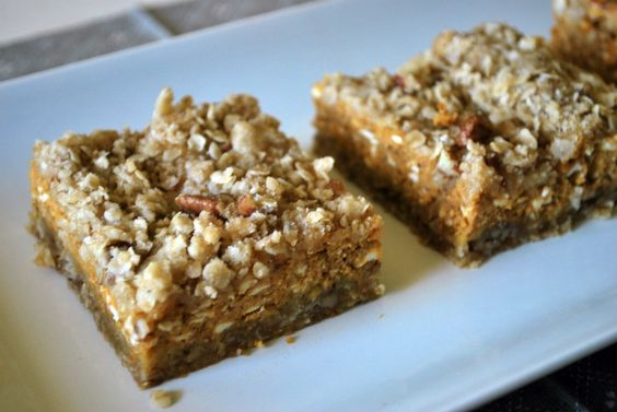Pumpkin Pie Bars - Yet another delicious pumpkin recipe I need to eat this fall.