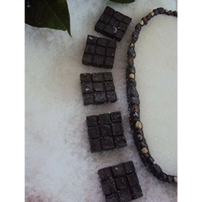 Mini Square Rock Stepping Stones. www.teeliesfairygarden.com . . . These mini square rock stepping stones lead to the gnome's lovely home! The fairies will know where to go whenever they want to visit their gnome friend! #steppingstones