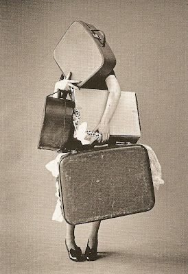 with suitcases