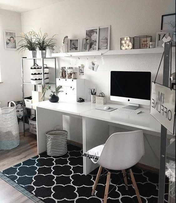 Chic Home Office Design Ideas from i.pinimg.com
