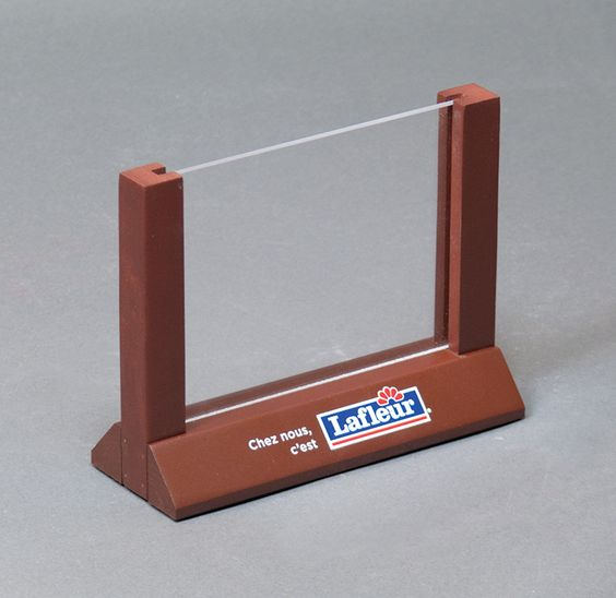 Custom size table tent sign holder with hardwood base/rails and ...