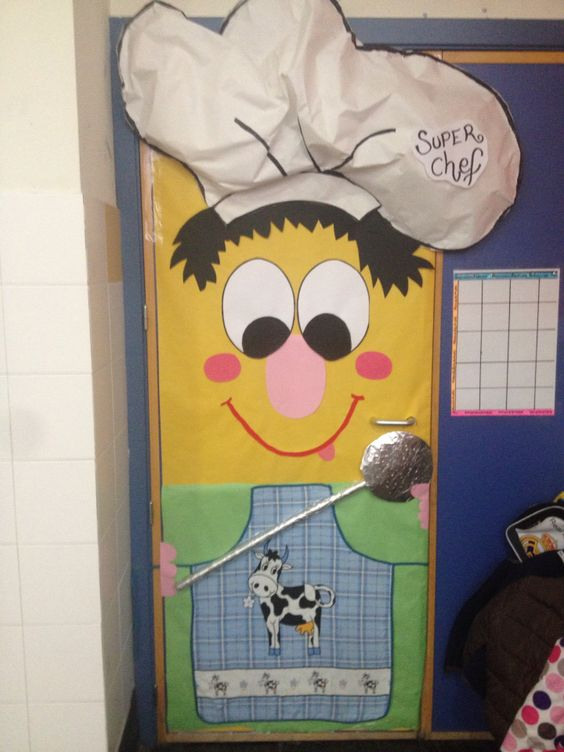 O ser cocinero como nuestra puerta de 5 a os b for Puertas decoradas educacion infantil