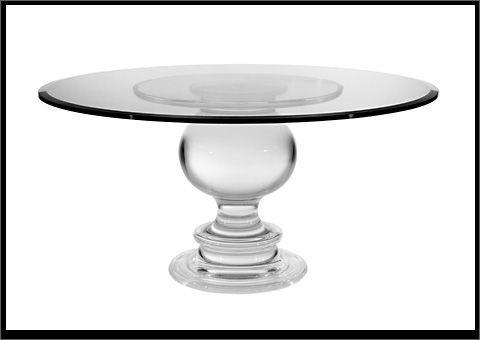 Spectrum West Collection PORTOFINA DINING TABLE Sensual High Quality Acrylic  Table Base Imparts A Modern Take On A Classic Form. This Lucite Pedeu2026