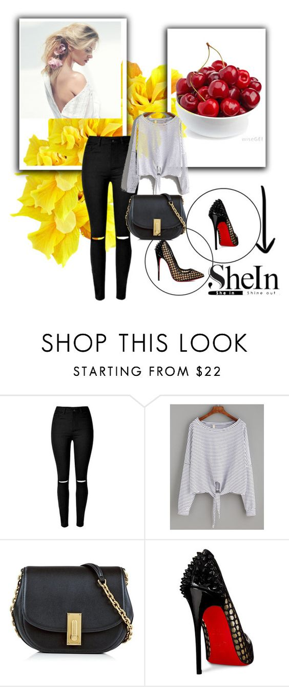 """""""Shein"""" by fatmafatma123 ❤ liked on Polyvore featuring Marc Jacobs and Christian Louboutin"""