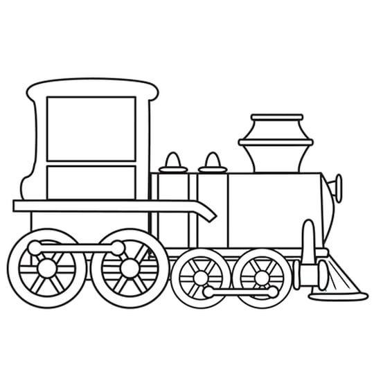 Petit Train En 2020 Coloriage Train Dessin Train Coloriage