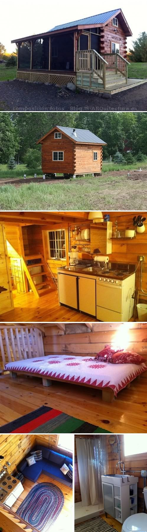Tiny log cabin with screened in porch on a budget tiny for Log cabin screened in porch