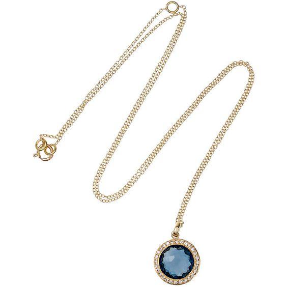 Ippolita Lollipop 18-karat gold, topaz and diamond necklace ($1,295) ❤ liked on Polyvore featuring jewelry, necklaces, accessories, collares, collar jewelry, 18 karat gold necklace, topaz jewelry, 18 karat gold jewelry and ippolita necklace