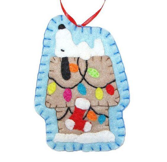 felt Snoopy ornament