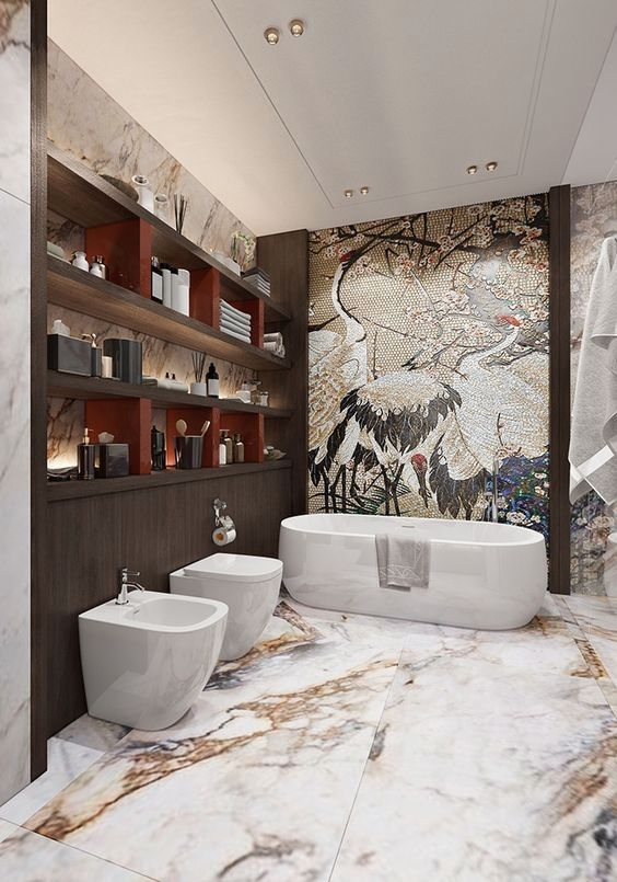 18 Ideas Of Beautiful Wall Art Interiordesignshome Com Luxury Bathroom Master Baths Contemporary Bathroom Designs Bathroom Interior Design