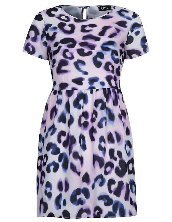 G21 Chiffon Animal Print Smock Dress | Women | George at ASDA £16