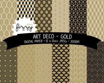 Art Deco Digital Paper Parties Pinterest Art Paper And Art Deco