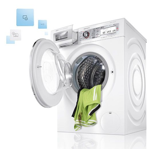 There S No Need To Worry About Your Clothes Smelling Musty Like They Ve Been Sitting Damp In Your Machine For Hours Si Washing Machine Washer And Dryer Bosch