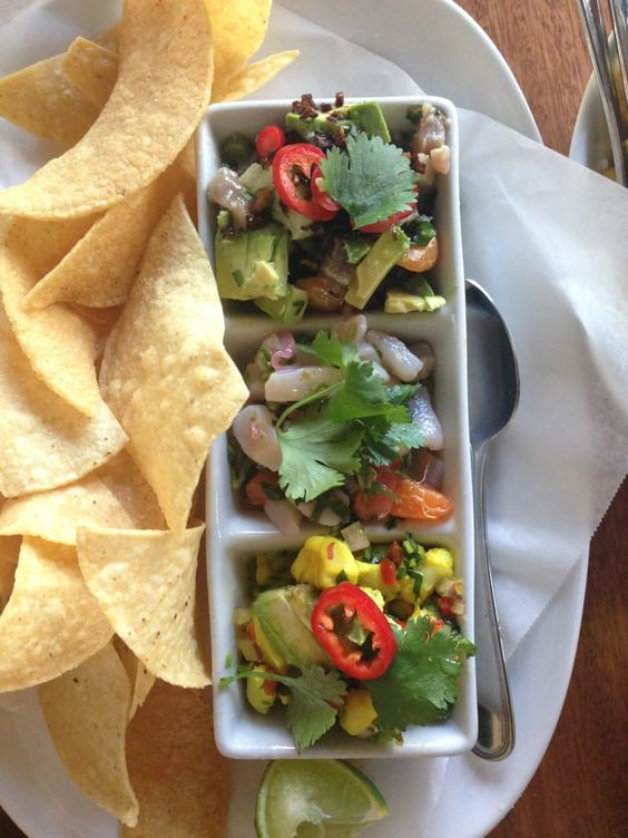 Joyride Taco House - Gilbert, AZ, United States. Tasting of all the ceviches