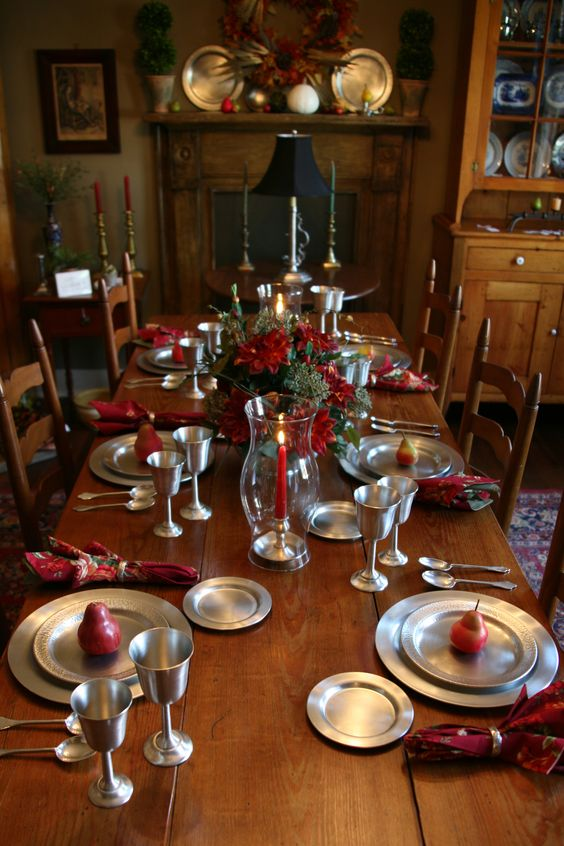 Handcrafted Pewter Table Settings from Village Pewter  There's just something about Pewter that I love!