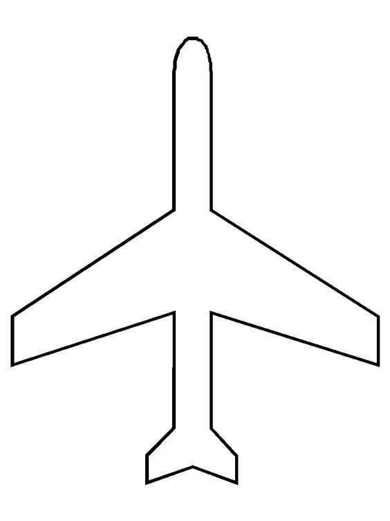 Activities coloring sheets and coloring on pinterest for Cut out airplane template