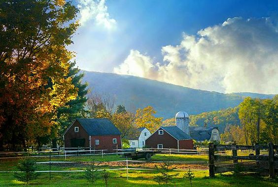 This is a beautiful Autumn day in Kent, Connecticut.  What can be finer than Fall in the country.   Connecticut is a perfect place to experience the cool air and colorful leaves.  On sale now at Fine Art America!  #autumn #AIartists #aifreidman #fall #country #farminfall #fallfarm #colorful fall