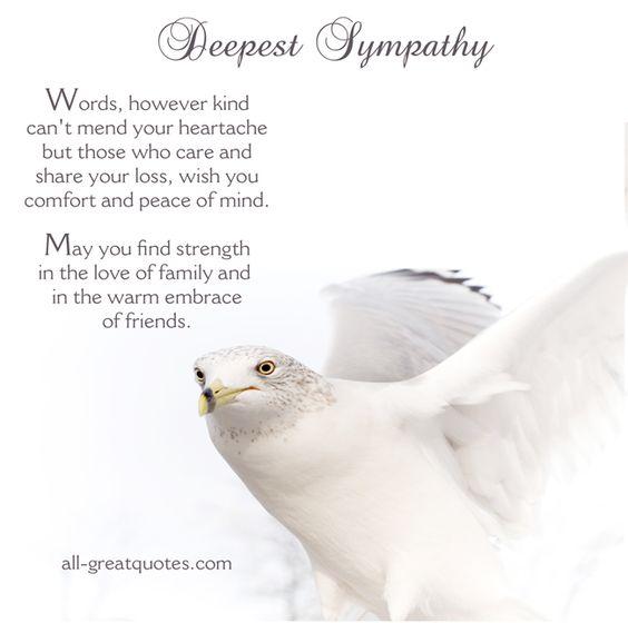 Words Of Sympathy New World
