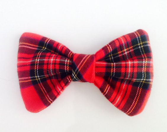 Pajarita Collar de perro. Pajarita roja para perro por MuckaPets