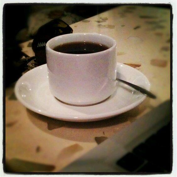 Hot milk coffee