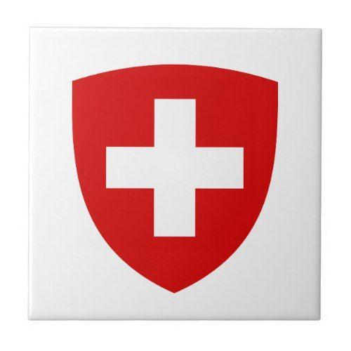 Swiss Coat Of Arms Switzerland Souvenir Tile Zazzle Com In 2020 Coat Of Arms Switzerland Flag Arms