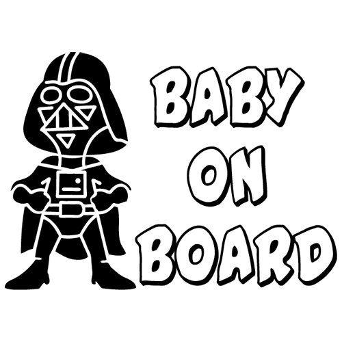 Baby Star Wars a bordo di Darth Vader ragazzi ragazze sicurezza informazioni su auto vinile decalcomania vetrofania - non stampato - (#02)