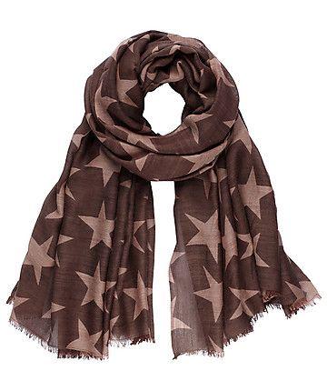 Funkel, funkel kleiner Stern... Tuch von Becksöndergaard mit Sternenprint  #scarf #stars
