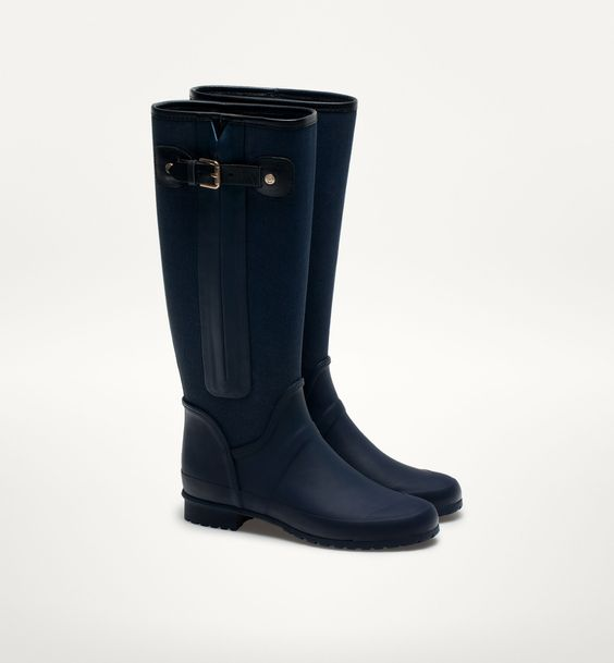 COMBINED RAIN BOOTS - View all - Shoes - WOMEN - Turkey - Massimo ...
