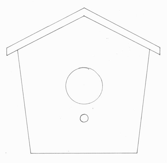 bird house template felt fun pinterest bird houses house template and house. Black Bedroom Furniture Sets. Home Design Ideas